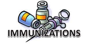 "Needle and vials with word ""immunizations"""